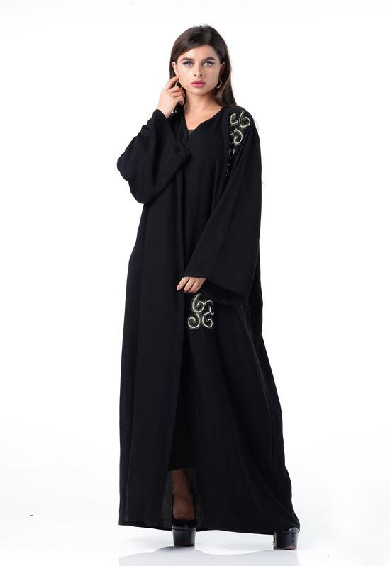 Abaya with a very soft design and black color