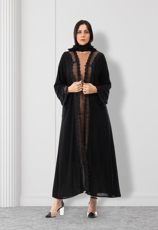 Abaya with an attractive lace fabric