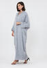 Gray Patterned Georgette