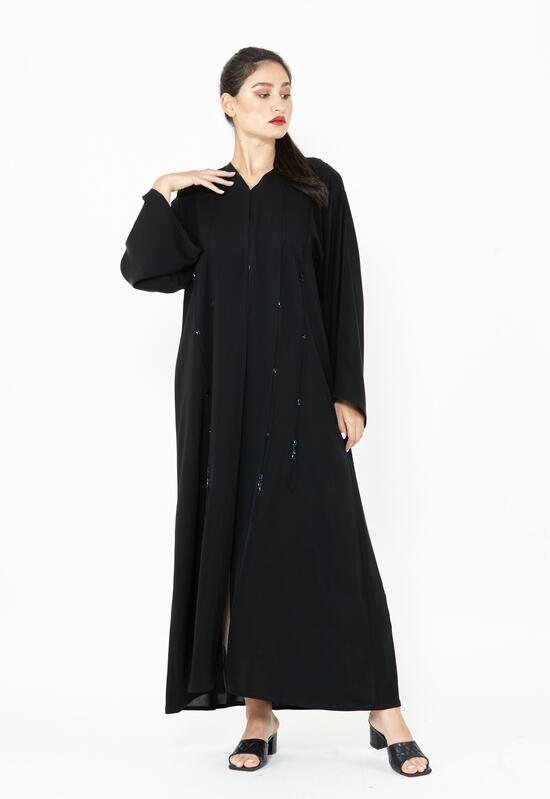 Abaya from Al-Nada Korean with blue lobes to give a luxurious impression