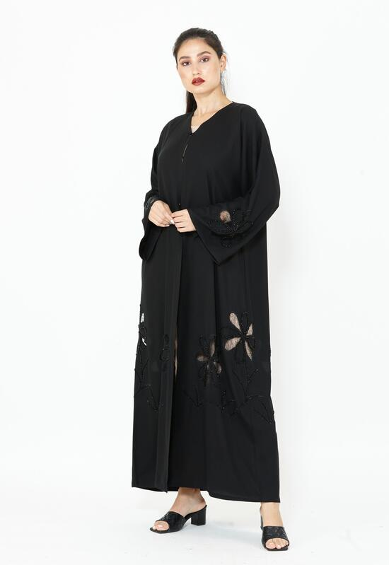Abaya made of cotton in a distinctive black color